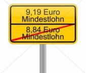 Vācija. No 2019. gada 01. janvāra minimālā alga tiek noteikta 9.19 EUR